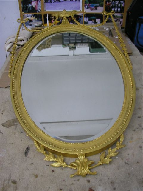 MIRROR FRAME RESTORED - AS GOOD AS NEW!